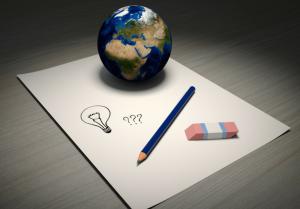 Globe Paper Idea
